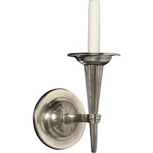 ART DECO Style nickeled bronze one light sconce