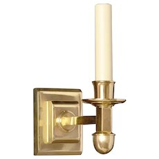 ART DECO Style gilded bronze bronze one light stepped sconce