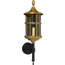 Bronze outdoor wall lantern, one light