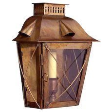 Brass indoor/outdoor one light lantern