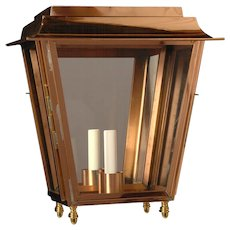 Copper indoor/outdoor one light lantern