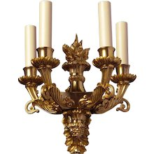 EMPIRE Style gilded bronze four light sconce