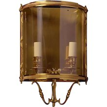 LOUIS XVI Style gilded bronze two light wall lantern