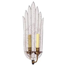ART DECO Style mirrored back one light sconce