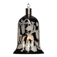 """ARABESQUE"" crystal bell shaped three light lantern"