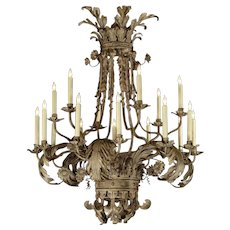 """ACANTHUS LEAF"" eighteen light chandelier"
