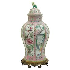 French Samson Vase on Bronze Mounts