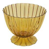 Amber Glass Bowl
