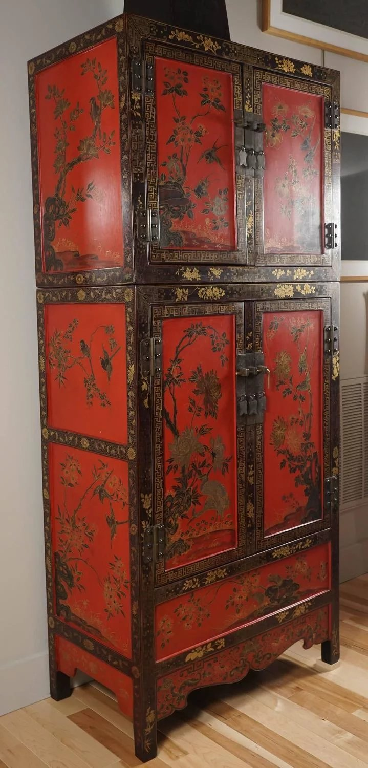 Chinese Lacquer Cabinet Sutter Antiques Rubylux