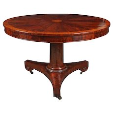 American Flame Mahogany Center Table