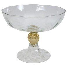 Venetian Glass Compote