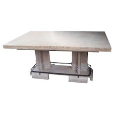 Extendable Cerused Oak Dining Table