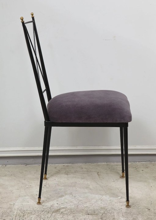 6 Wrought Iron Dining Chairs