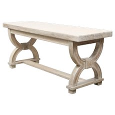 Cerused Oak Bench