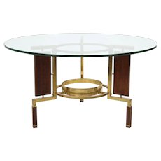 Rosewood & Brass Coffee Table
