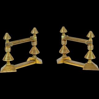 Pair of Brass Firedogs