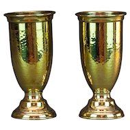 Pair of Brass Spill Vases