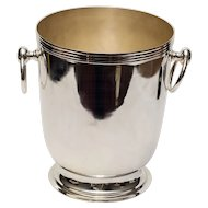 Silver Plate Champagne Bucket with Ring Handles