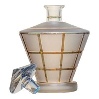Frosted Glass & Gilt Decanter