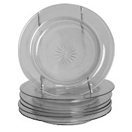 Set of 6 clear and frosted glass dishes