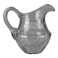 Cut crystal jug