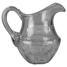 Cut crystal jug