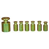 Brass banker's weights