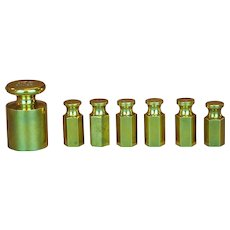 Brass banker's weights