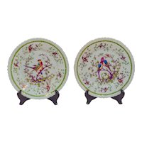 Set of ten porcelain plates by Victoria Porcelain Factory.