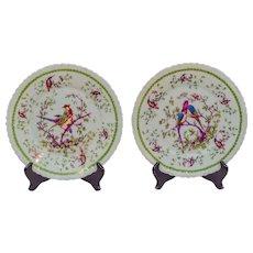 Set of ten porcelain plates by Victoria Porcelain Factory.