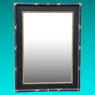 Large 19th Century Neoclassic Wood with Gesso Painted and Gilded Mirror