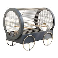 Vintage Iron and Brass Bird Cage