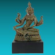 Patinated Bronze Buddha