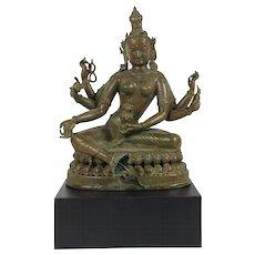 Patinated Bronze Buddha