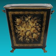Victorian Tole Hamper from the Estate of Paul and Bunny Mellon