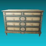 Directoire Style Painted Chest of Drawers