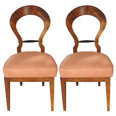 Pair of Late 19th-early 20th Century Italian Biedermeier Style Side Chairs