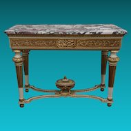 18th Century French Gilt and Painted Console Table