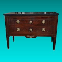 18th century Two Drawer French Commode