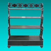 Mid 19th Century English Ebonized  Etagere