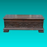 Italian Baroque Carved Walnut Cassone