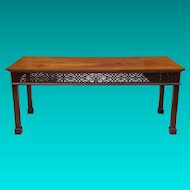 19th Century Georgian Style Mahogany Console Table