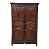 Fine Provincial Louis XV Period Walnut Armoire