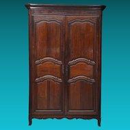 Fine Provincial Louis XV Period Walnut Armoire