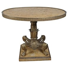 Sienna Marble and Bronze Coffee Table