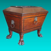 Regency Mahogany and Ebony Cellaret