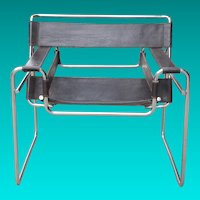Marcel Breuer Chrome and Leather Chair