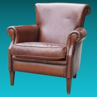 Deco Leather Club Chair