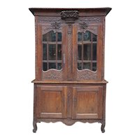 18th Century French Oak Buffet Deux Corp