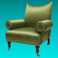 Upholstered Arm Chair in the Regency Taste